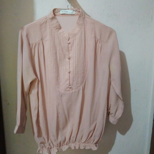 Blouse wanita peach/salem
