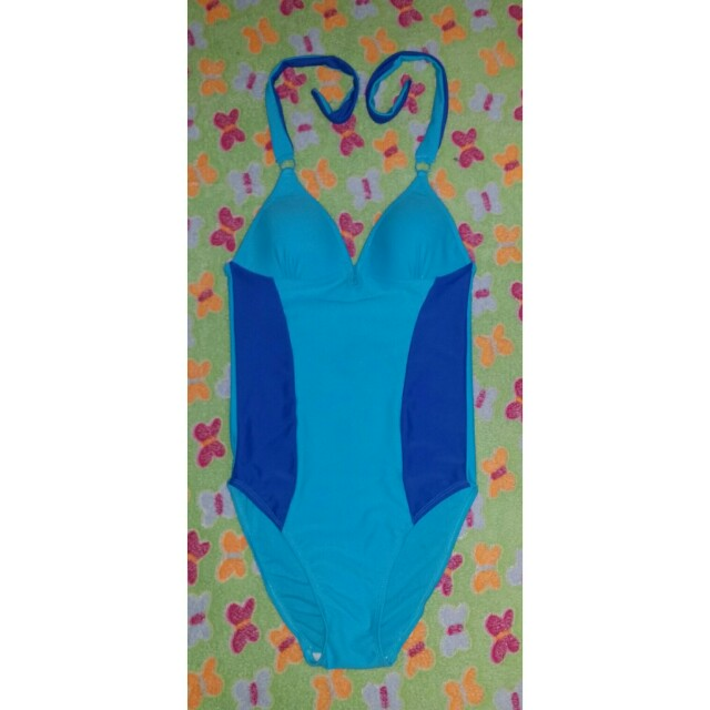 Blue One Piece Swinsuit