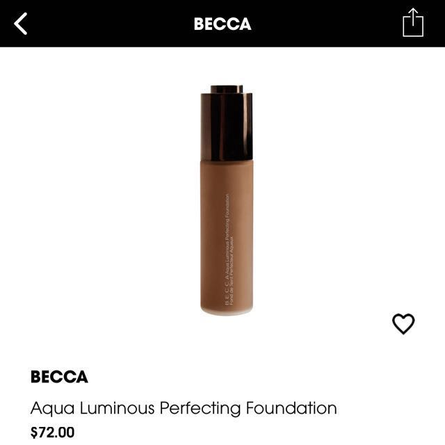 Brand new Becca Aqua Luminous Perfecting foundation - Fair