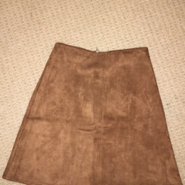Brand New Brown Skirt