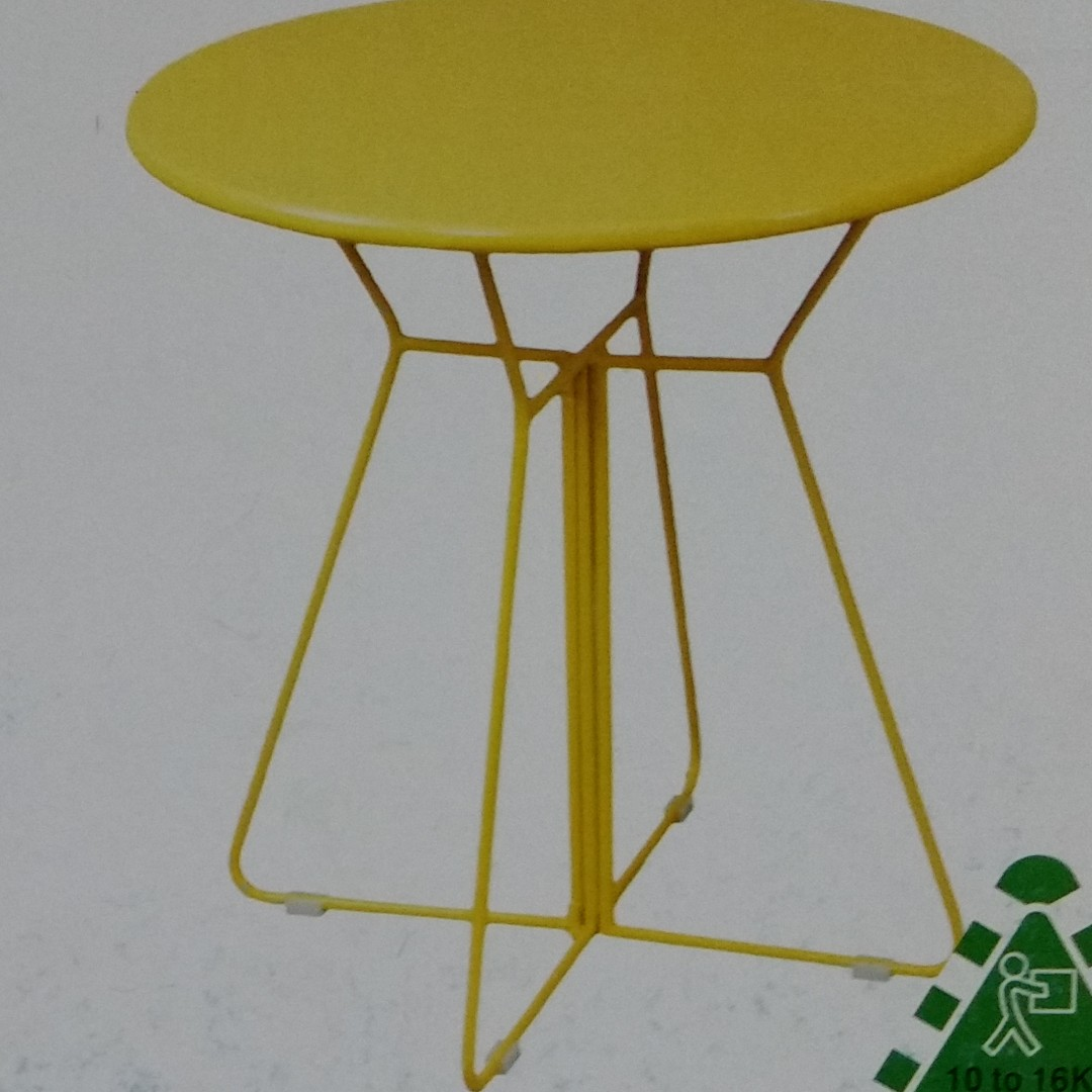 **BRAND NEW** MARQUEE DALY BISTRO TABLE YELLOW & ORANGE ($15 POSTAGE)