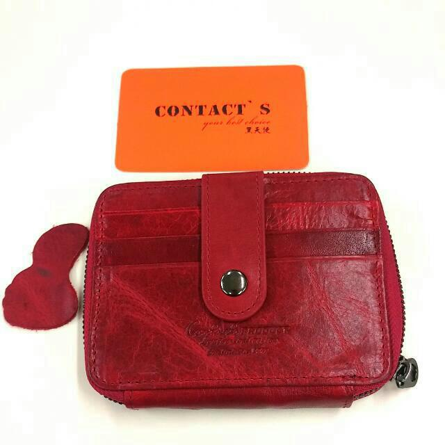 Card And Coin Wallet - Genuine Leather