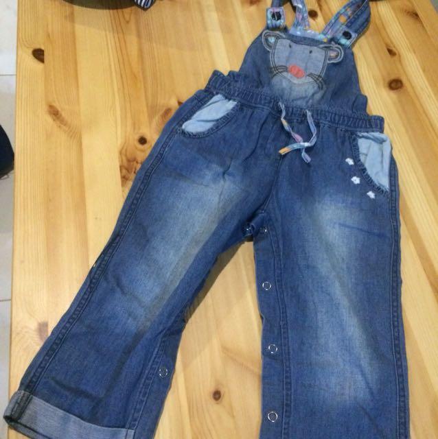Celana Kodok Panjang Jeans Preloved 2 3 Y Babies Kids Girls