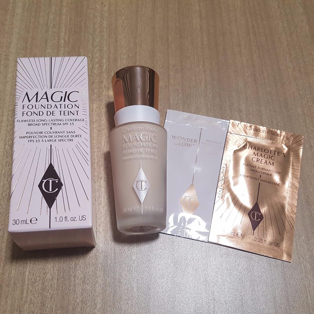 Charlotte Tilbury Magic Foundation (+ Magic Cream and Wonder Glow samples)