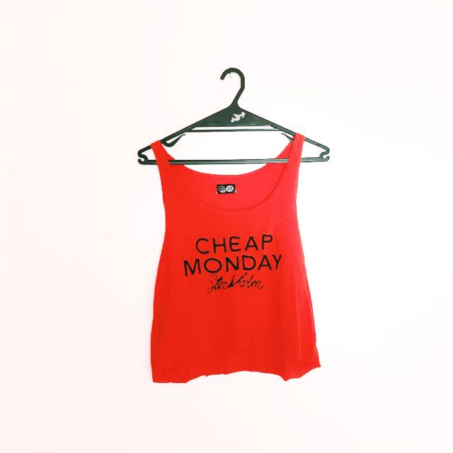 Cheap Monday Logo Orange Crop