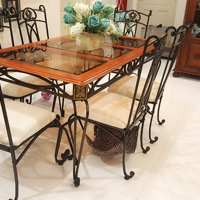 Classic Wrought Iron Dining Table, Wrought Iron Dining Room Table