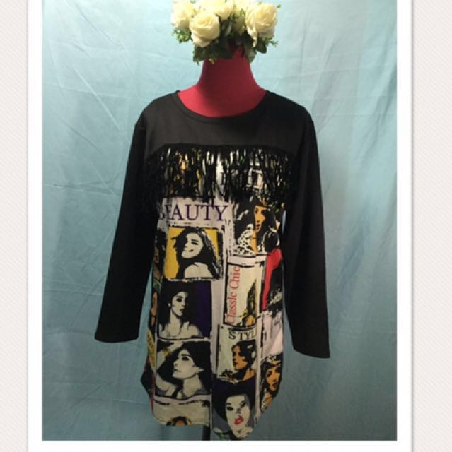 Comic Style Dress with fringes