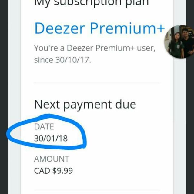 Deezer premium for 3 months
