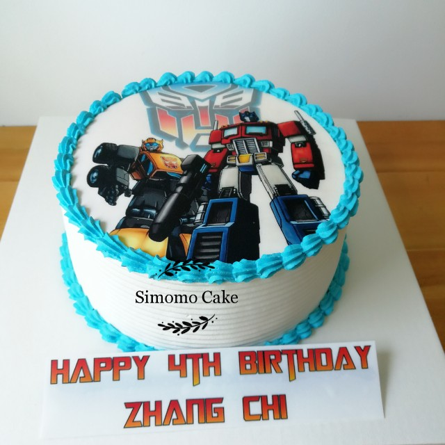 Photo Cake Transformers FREE DELIVERY Food Drinks Baked Goods On Carousell