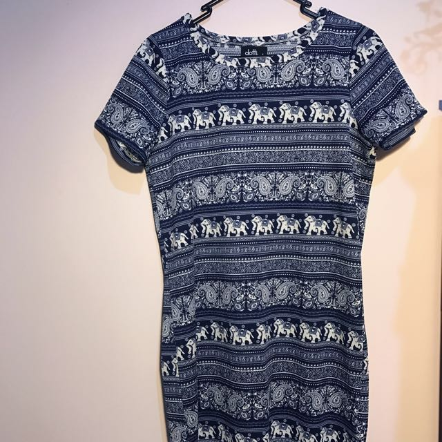 Elephant Print T-Shirt Dress