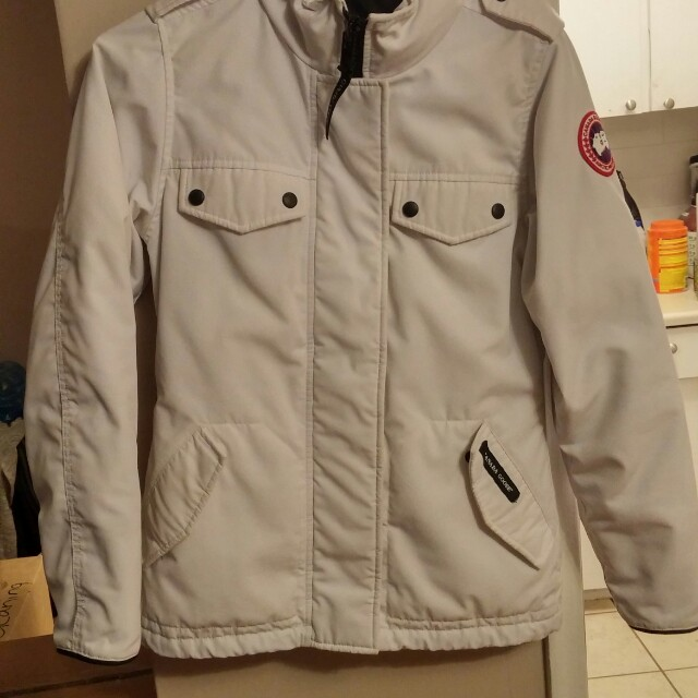 Extra Small White Canada Goose Winter Parka