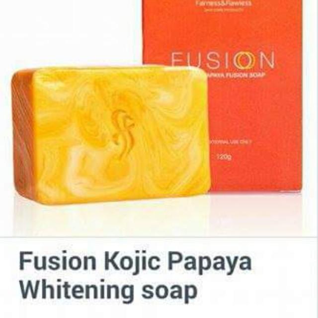 Fairness and flawless FUSION KOJIC PAPAYA soap.