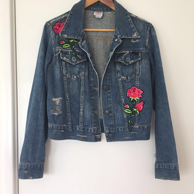 Fiorucci vintage distressed denim jacket size 10