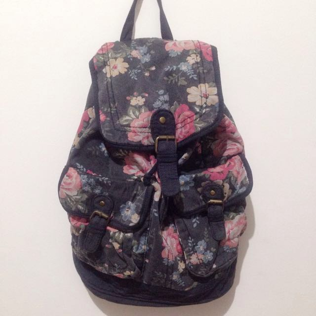 Flower Backpack by New Look