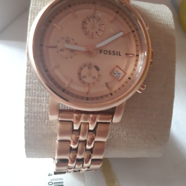 Fossil chronograph rpse gold watch