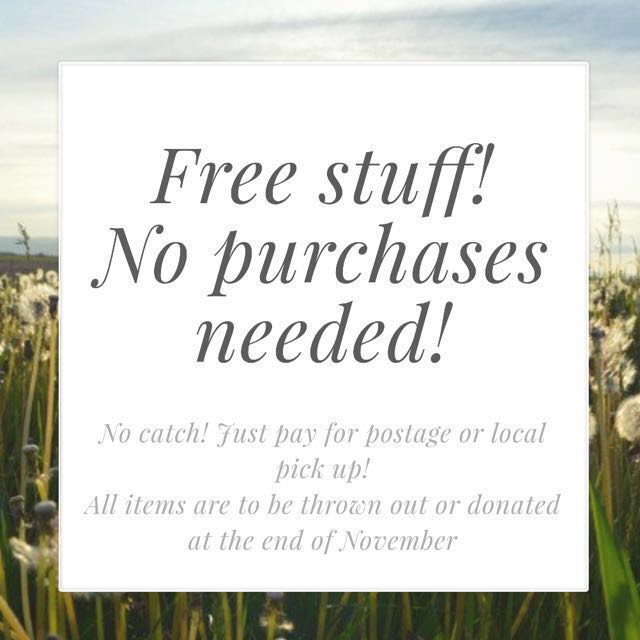 Free stuff. No need to buy anything!