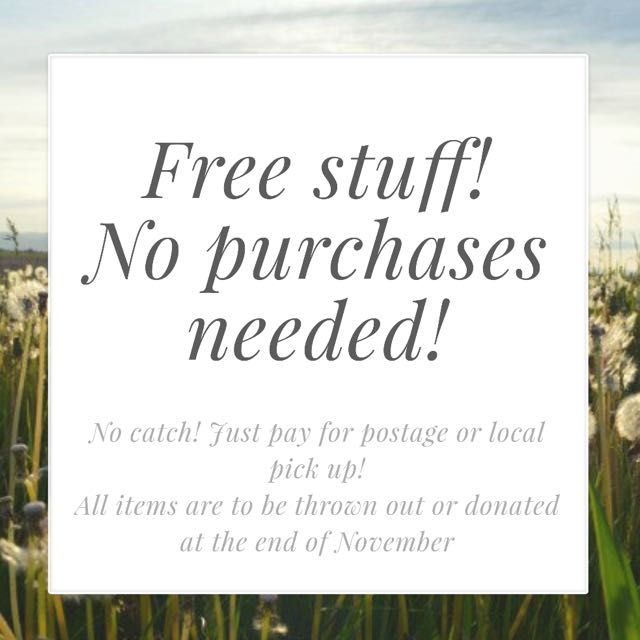 Free stuff! No purchases needed!