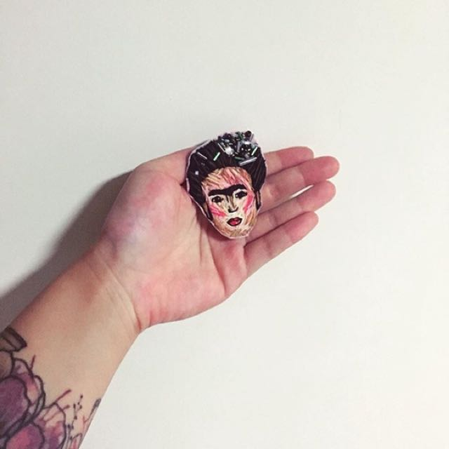Frida Khalo Hand embroidered patch