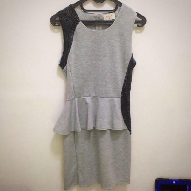 Gaudi Cute Grey Midi Dress