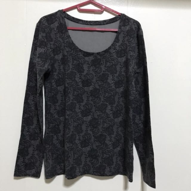 Giordano long-sleeved shirt/warmer