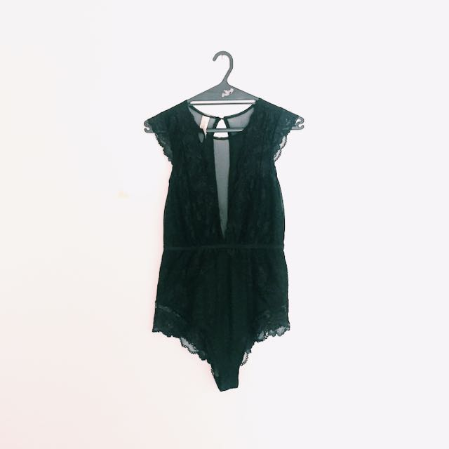 Glassons Lace & Mesh Bodysuit
