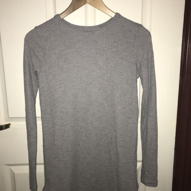 Grey Forever 21 Sweatshirt