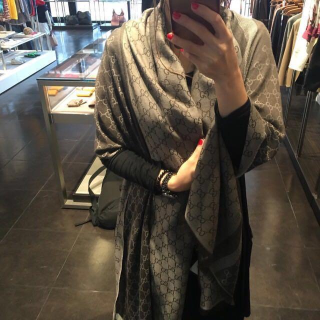 保證正品Gucci 代購 圍巾 披肩 真品 Outlet專櫃