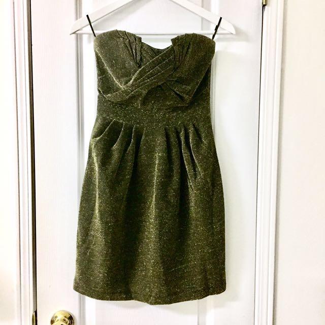 H&M Gold/Black Party Dress