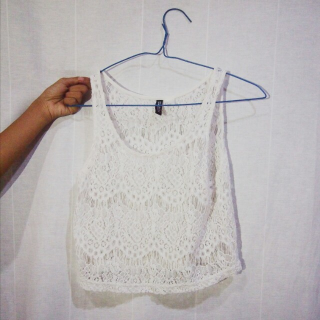 h&m lace tank top