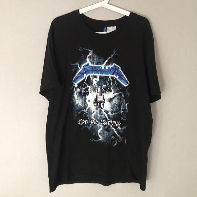 H&M Metallica Ride The Lightning Tour Merch Tee