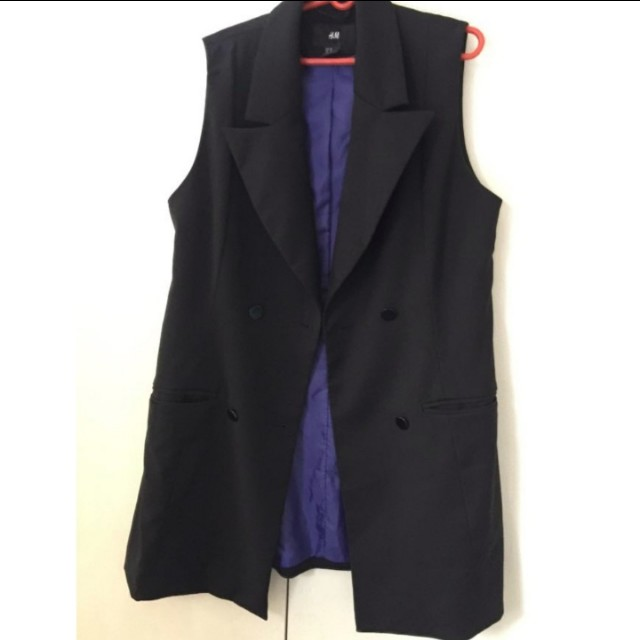 H&M sleeveless blazer/ sleeveless vest
