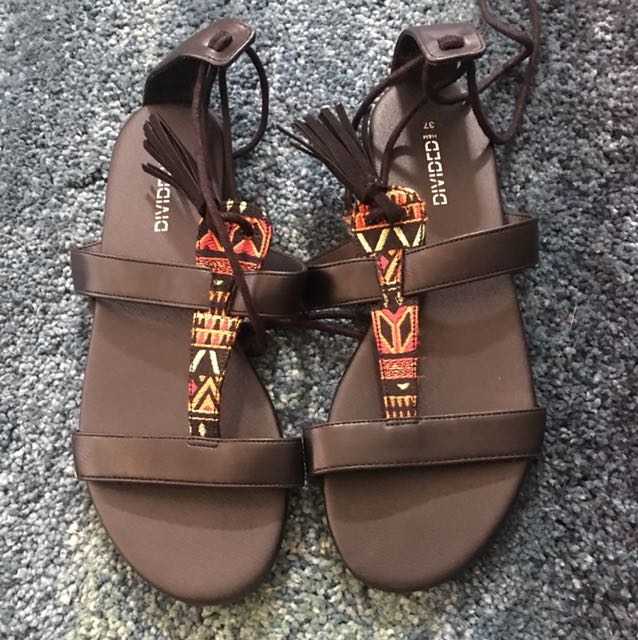 H&M tie up sandals