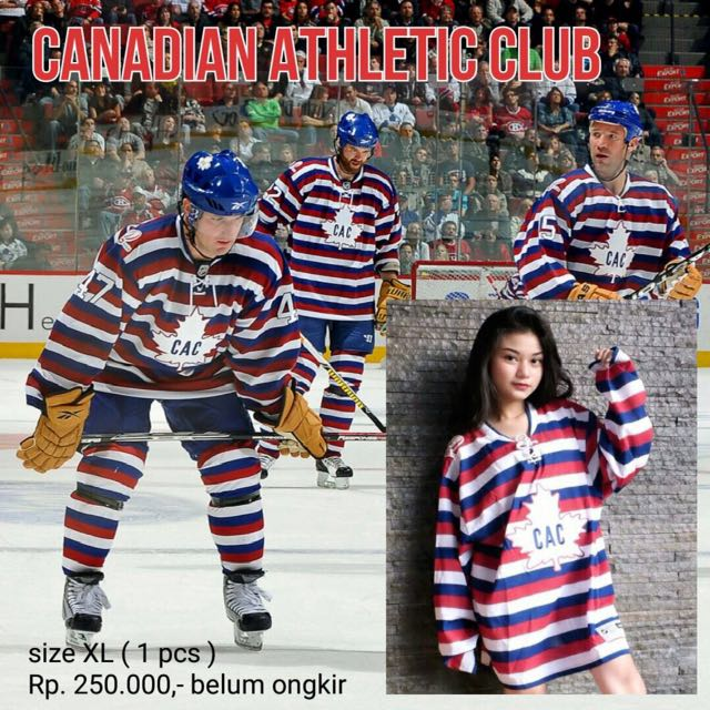 HOCKEY jersey CAC (canadian athletic club), Reebok - Indonesia #cac #hockey #club #canada
