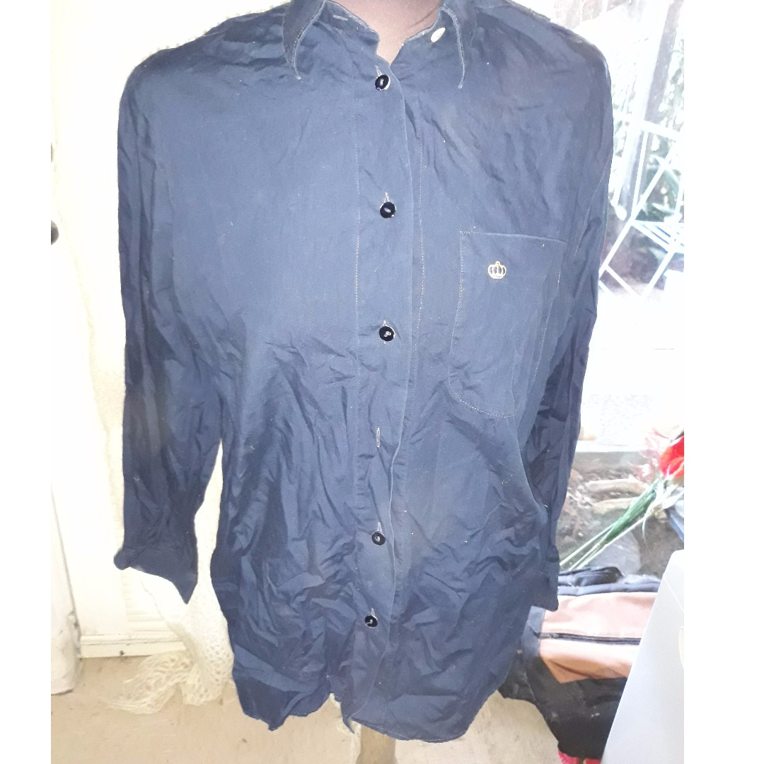 Il Camiciao Del Re Italian Mens Shirt (used as womens boyfriend shirt) size 48 (EU)