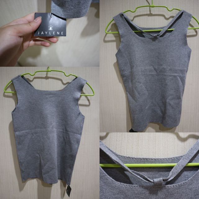 Jaylene Grey Kint tank top with tag (never used)