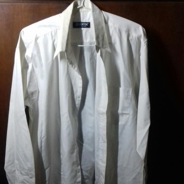 Kemeja Putih Lengan Panjang (Size L)