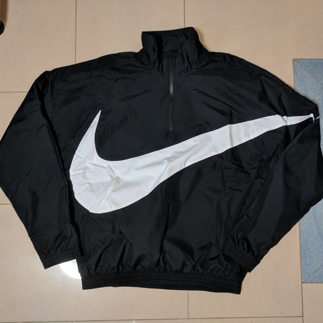 c732f732aed0 KITH X NIKE BIG SWOOSH QUARTER-ZIP BLACK
