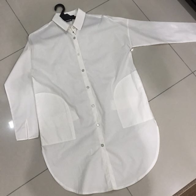 Korean design Oversized White Shirt