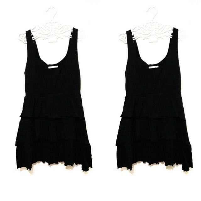 Little Black Ruffled Dress