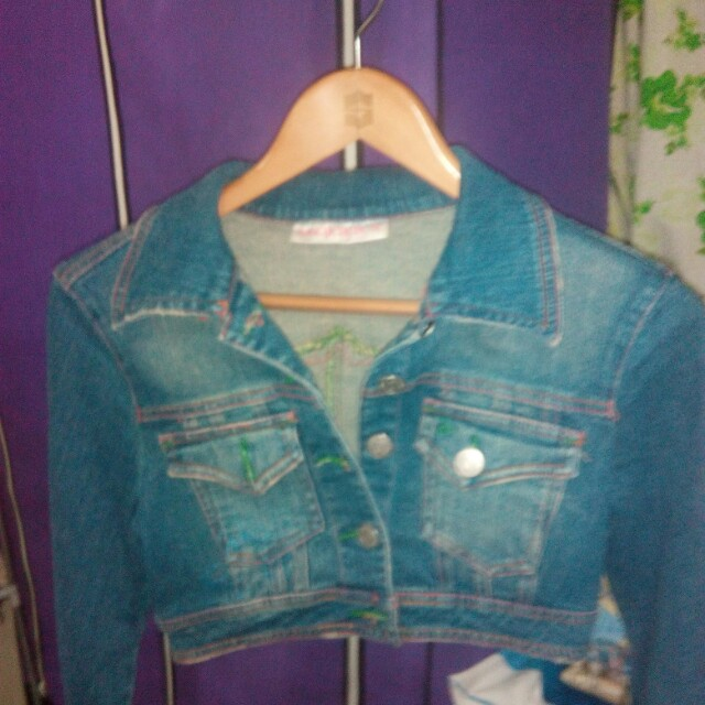 Mango denim crop jacket