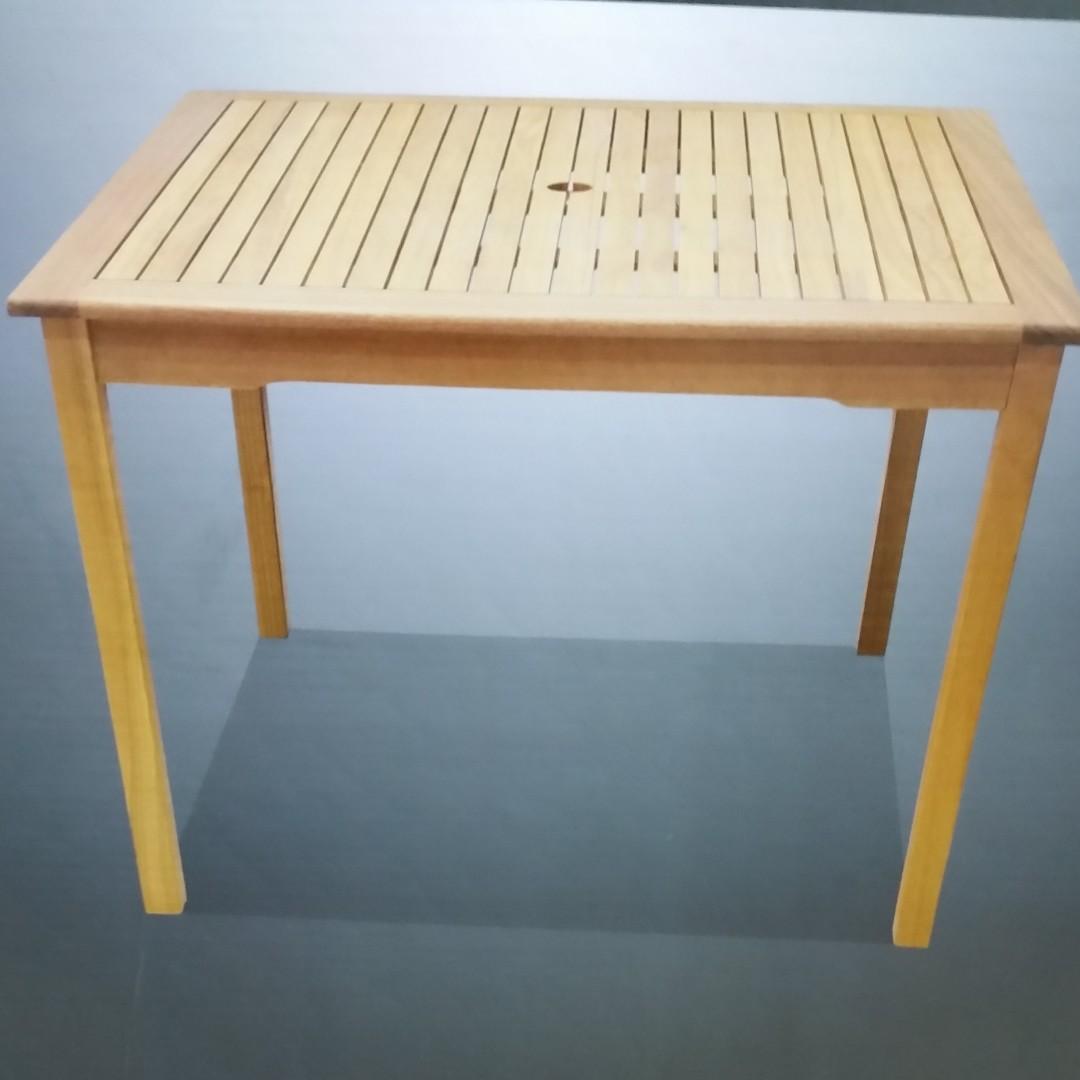 MIMOSA BRIGHTON SQUARE TIMBER TABLE EUCALYPTUS HARDWOOD BRAND NEW