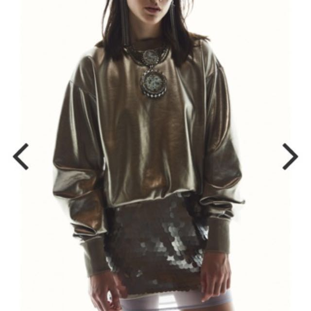 MIND MADE UP JUMPER $219.95  Metallic Coated size 6/XS