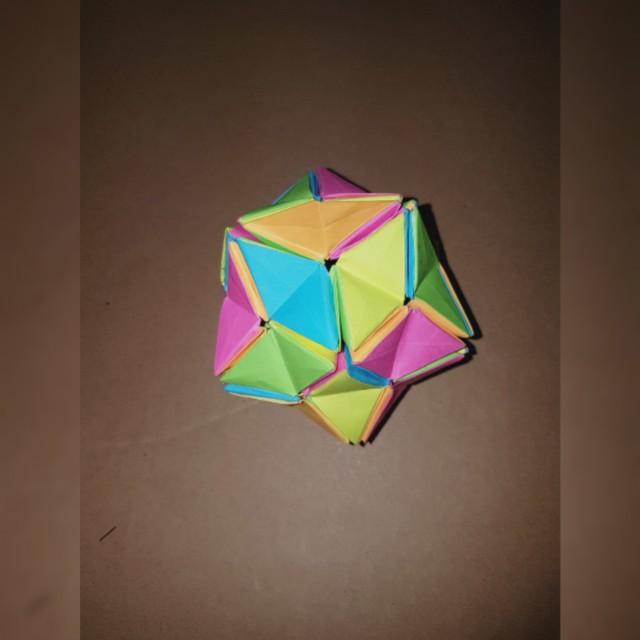 Origami Kusudama Revealed Flower Design Craft Art Prints On