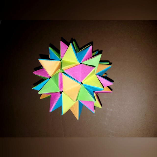 Origami kusudama revealed flower design craft art prints on origami kusudama revealed flower design craft art prints on carousell mightylinksfo