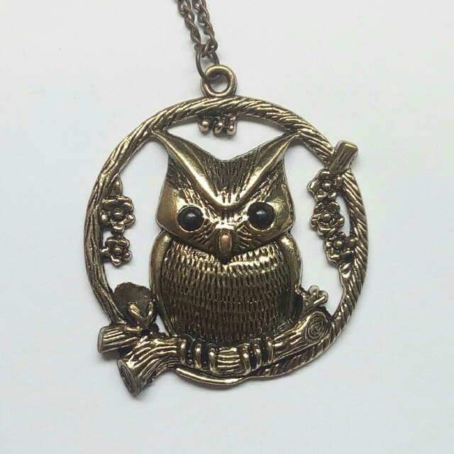 Owl Perched Necklace