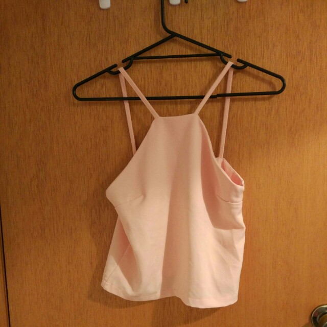 Pale pink crop top