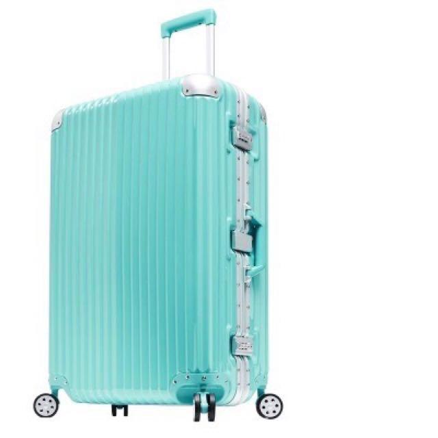 異次元PC鏡面行李箱粉藍#幫你省運費