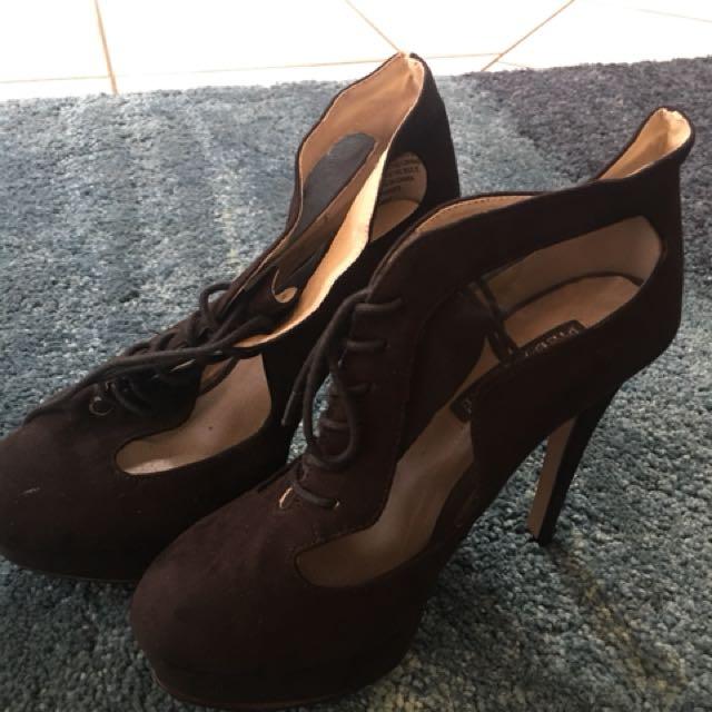 Pied A Terre black Mesh Shoes