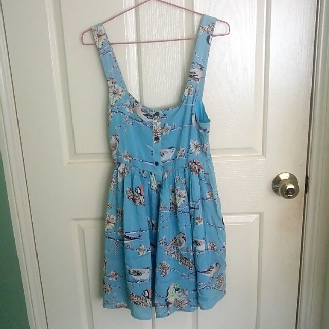 Quirky Circus blue sundress size 10