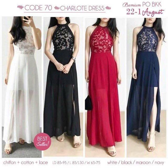 REPRICE Dress pesta premium red